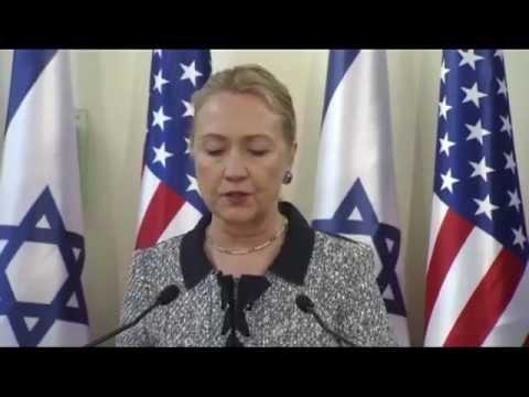 Hilary Clinton, Netanyahu, Jerusalem, Nov 20 2012 (Israel Live Com)