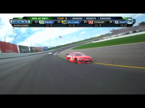 Danica Patrick rips David Gilliland over radio - NASCAR Sprint Cup - Kansas 2013