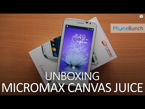 Micromax Canvas Juice A77 Unboxing and Hands on