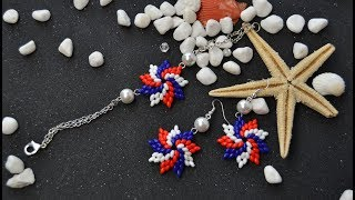 PandaHall Video Tutorial on Making Two-hole Seed Bead Flower Jewelry Set