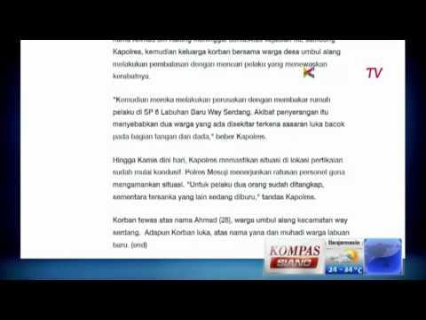 Mesuji Kembali Ricuh - Kompas Siang 5 September 2014