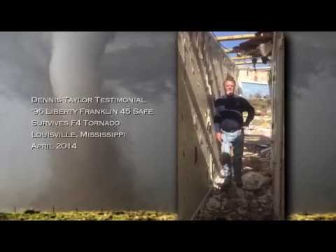 Liberty Safe survives F4 Tornado in Louisville, Mississippi - April 2014