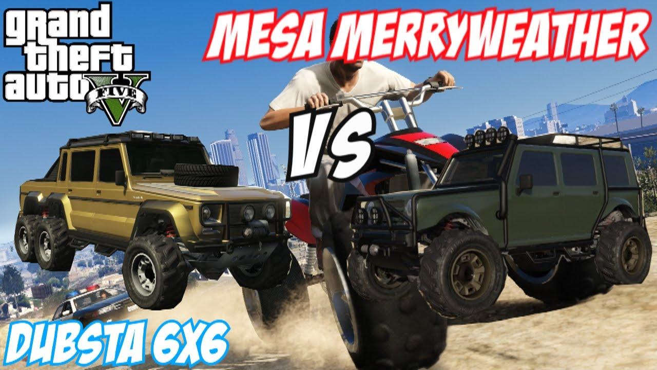 Gta Dubsta vs Insurgent Gta 5 Dubsta 6x6 vs Mesa