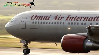 Omni Air 767-300 in action @ St Kitts Robert L. Bradshaw Int'l Airport, Epic Charter !!!!!
