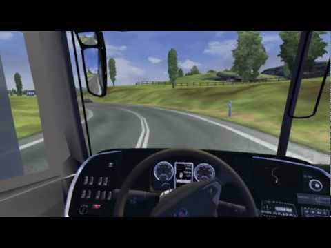 Euro Truck Simulator 2 bus trip to Paris with Marcopolo G7-1800DD 6x2 part1