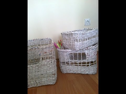 Kağıttan (gazete) Sepet (patates sepeti)Yapımı---How to make newspaper basket