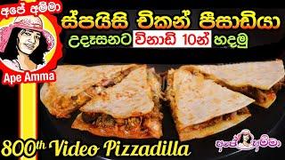 Spicy chicken Pizzadilla by Apé Amma