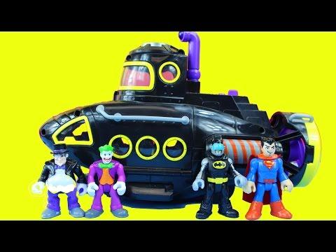 Batman Imaginext Villain Vehicle Set With Penguin Submarine Joker Motorcycle Superman