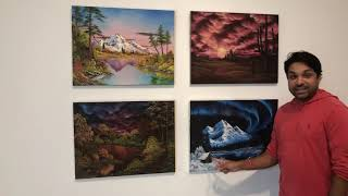 Finity sees physical Bob Ross paintings! FREAK OUT!!