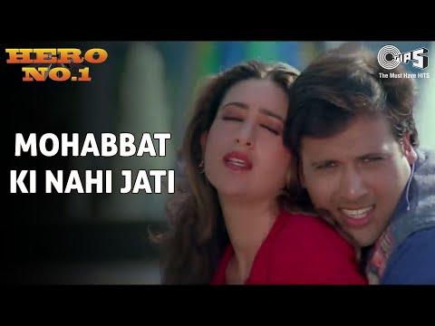 Mohabbat Ki Nahi Jati - Hero No. 1 | Govinda & Karisma Kapoor | Udit Narayan & Sadhana Sargam video