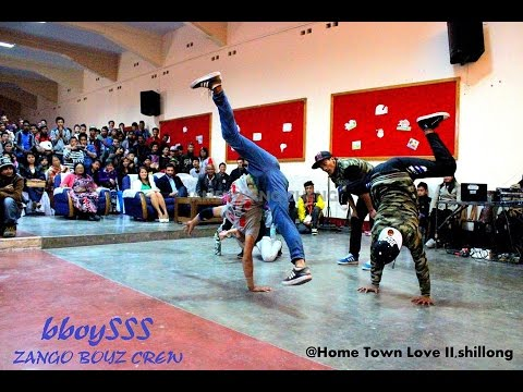 bboying 3 on 3 final battle @Hometown love II,Shillong, Northeast India 2014