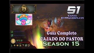 Diablo 3 ROS PS4 #51 - Guia Completo Cajado do Pastor na S15