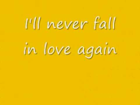 i'll never fall in love again - Elvis Costello lyrics (Austin Powers 2)