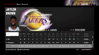 NBA 2k19 Fantasy League - Lakers vs Timberwolves