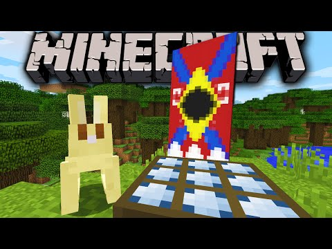 Minecraft 1.8 Snapshot: Rabbit Sounds, Bunny Tail, TNT Boost, New Banner Dye Patterns, Night Sensor klip izle