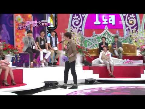 100808 Fl0w3R B0uqu3t - Kyuhyun imitating Sung Si Kyung and singing