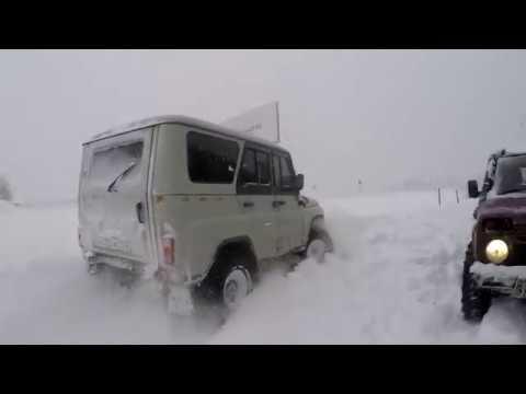 На бездорожье в Московский снегопад 04.02.2018. Не проходимый маршрут. Мега УАЗ.