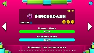 "Geometry Dash – ""Fingerdash"" 100% Complete [All Coins] 