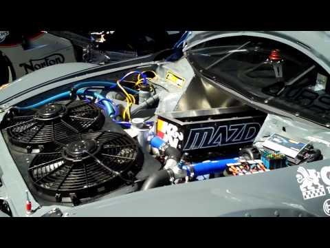 4 Rotor Mazda RX-8 Time Attack Car Revving Engine At Seven Stock 2009