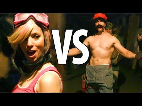 Mario VS Princess Peach (Fight Scene from Mario Warfare)