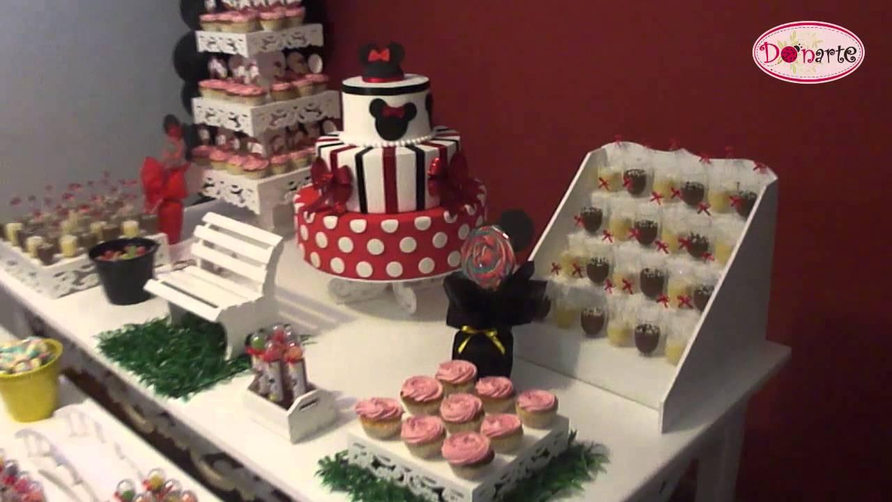 Kit Locação Decoração de Festa Minnie e Mickey Mouse Donarte