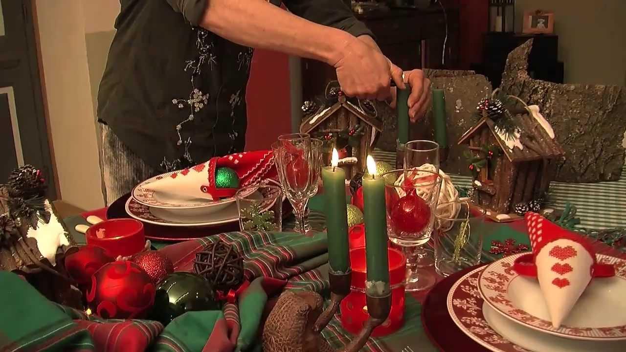 Idee creative per la tavola di natale cena a cura di alessandra obert youtube - Decorazioni per la tavola di natale ...