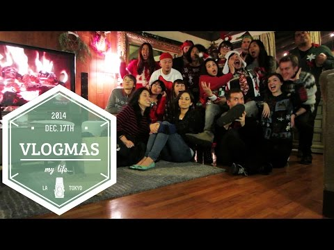 VLOGMAS Day 17 Ugly Sweater Party | Friedia