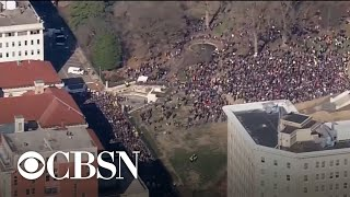 Thousands surround Virginia State Capitol Building to protest new gun control legislation