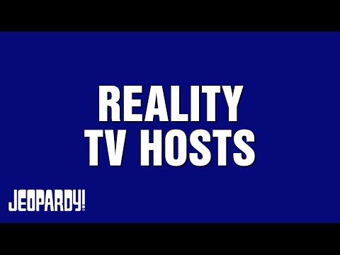 Jeopardy Reality Tv Hosts Category Highlights