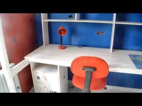 D co chambre gar on bleu blanc rouge gris youtube - Decoration chambre garcon 9 ans ...