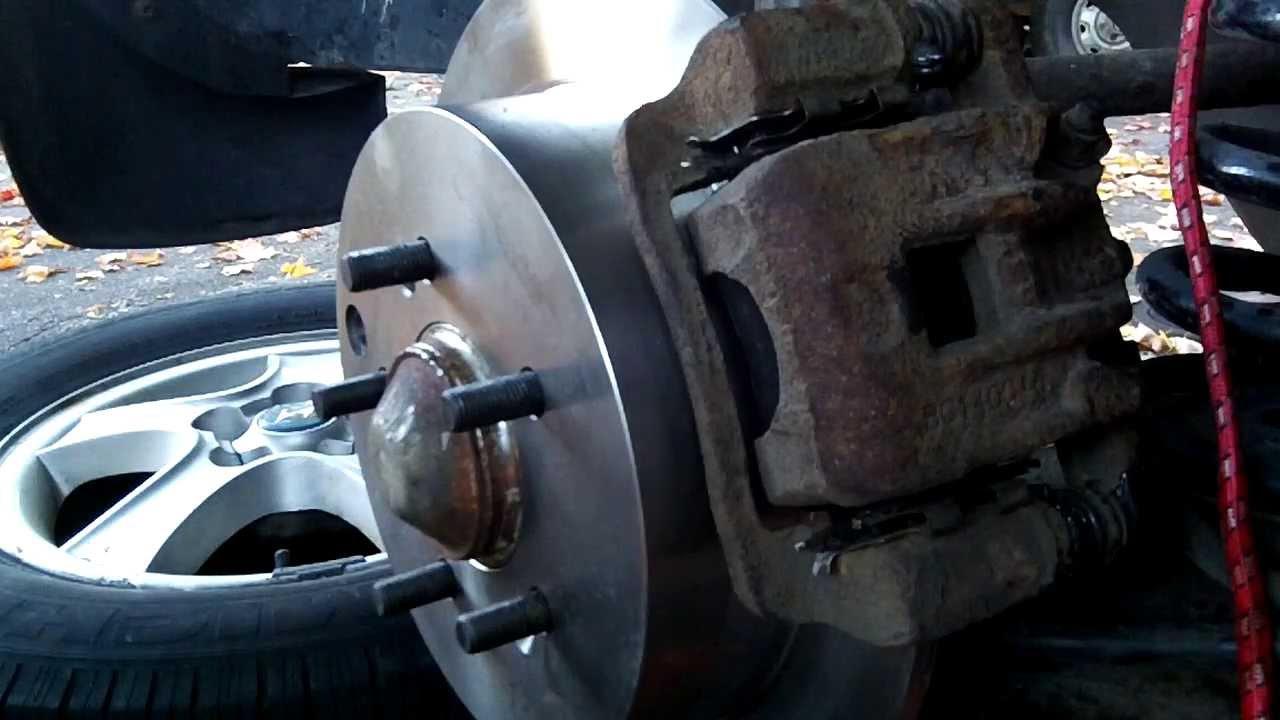 2004 Hyundai Santa Fe Changing Rear Brake Rotors And Pads