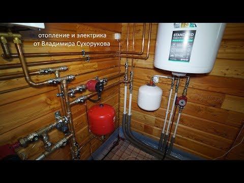 Дом из клееного бруса. Сложные работы по отоплению и электрике