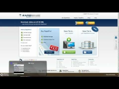 RapidShare como usar RapidShare gratis parte 1