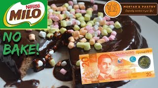 (7.35 MB) 30 PESOS NO BAKE MILO CAKE! | HOW TO MAKE 3-INGREDIENT FLOURLESS CAKE | Ep. 12 | Mortar & Pastry Mp3
