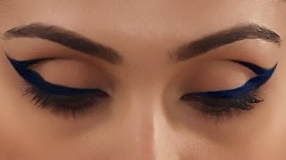 Cobalt Blue Cat Eye Makeup - Expert Makeup Tutorial - Glamrs