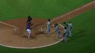 New Orleans' Brignac hits three-run homer
