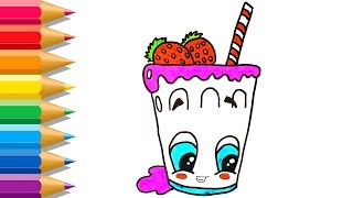 Coloring Pages Joys Series KidzLearn How To Draw Fruit Smoothie