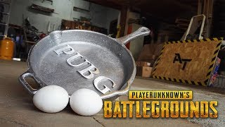 Casting Aluminum PUBG PAN - This Is How i Make Eggs!
