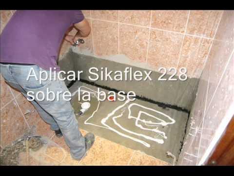 Instalaci n plato de ducha soft por ba os 10 youtube - Como colocar un plato de ducha de resina ...