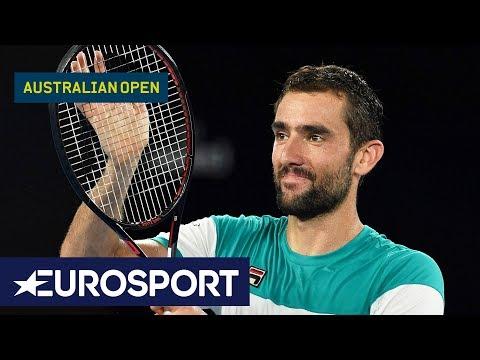 Marin Cilic v Kyle Edmund Highlights | Australian Open 2018 Semi Finals | Eurosport