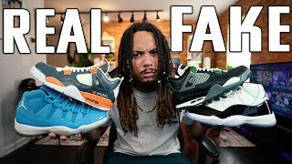 REAL VS FAKE EXPOSED ! The Difference Between CUSTOM & UNAUTHORIZED ! Are Unauthorized Shoes Real ?