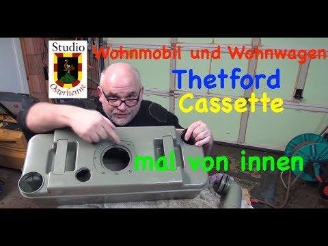 Wohnmobil Wohnwagen Thetford Casette Behälter von innen  repariert Belüftungsknopf