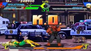 X-men vs Street Fighter Wolverine/Akuma Playthrough 1/2