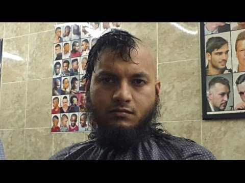 Head Shaving Time Lapse Before & After Long Hair Straight Razor Syed 2 video