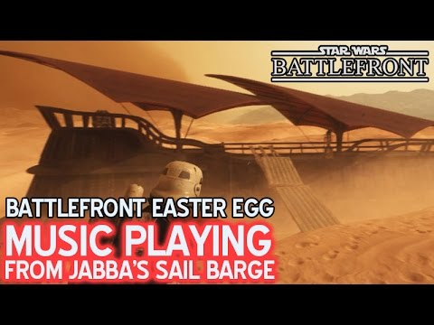 Music Playing from Jabba's Sail Barge (the Khetanna) • Battlefront Easter Egg Secret
