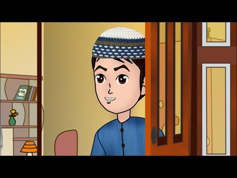 Abdul Bari learns Dua after coming out of Toilet - Urdu Islamic Cartoons for children