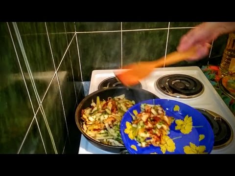 Жареная картошка на сковороде Рецепт как приготовить ужин домашние классический быстро вкусно видео