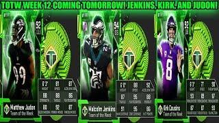 TOTW JENKINS, KIRK COUSINS, AND JUDON! TOTW WEEK 12 COMING TOMORROW! | MADDEN 19 ULTIMATE TEAM