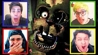 4 FACECAMS DO MEDO! 😱 - Five Nights at Freddy's Multiplayer