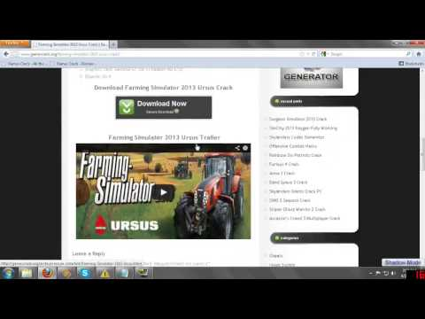 Посмотреть ролик - Farming Simulator 2013 Ursus Crack farming simulator 201